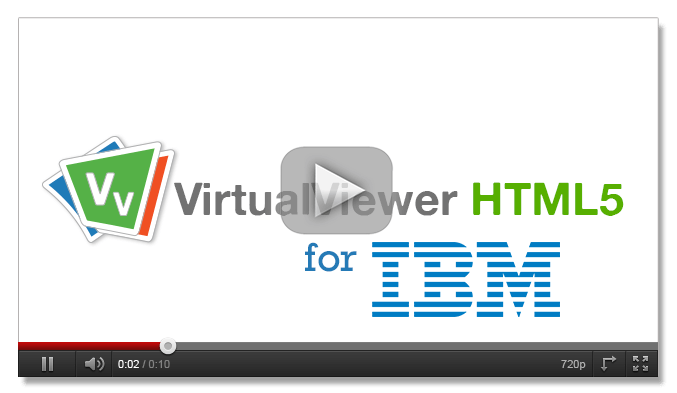 VirtualViewer HTML5 for IBM